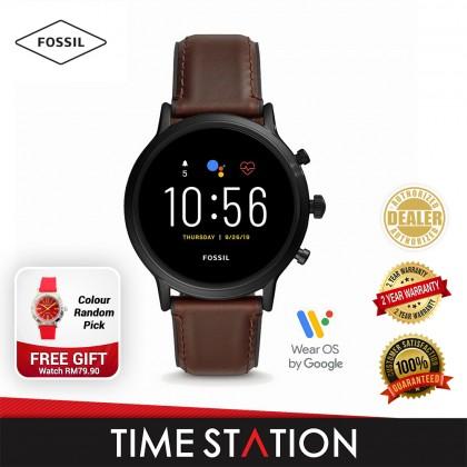 Fossil The Carlyle Gen 5 HR Dark Brown Leather Men's Smart Watch FTW4026