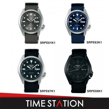 【Time Station】SEIKO 5 SPORTS AUTOMATIC SRPE61K1/SRPE63K1/SRPE67K1/SRPE69K1 NYLON MEN'S WATCH