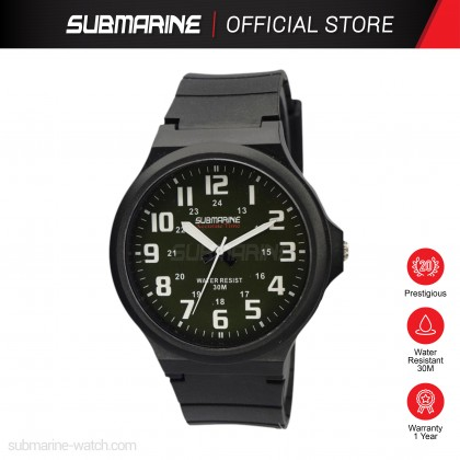 SUBMARINE Men Watch Fashion Sports Analog Waterproof Watch Jam Tangan Lelaki TP-2145-M-PS