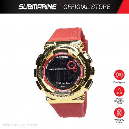 SUBMARINE Women Kids LED Display Digital Sports Watch Jam Tangan Perempuan TP-1512-L-PS (A)